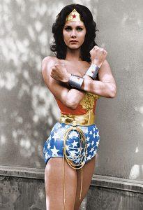 de eerste Wonder Woman Lynda Carter